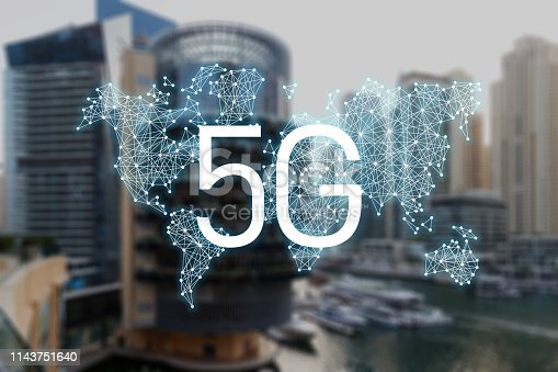 istock 5g concept of internet connection technology. World community and network. Smart city. Network and Connection technology. 5g network mobile data 1143751640