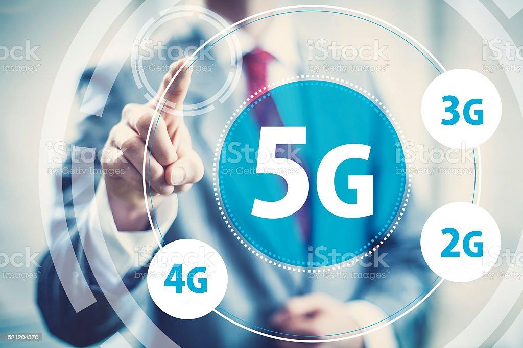 5g mobile data stock photo