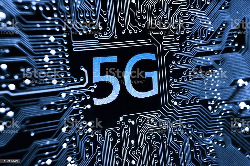 5g network communication stock photo