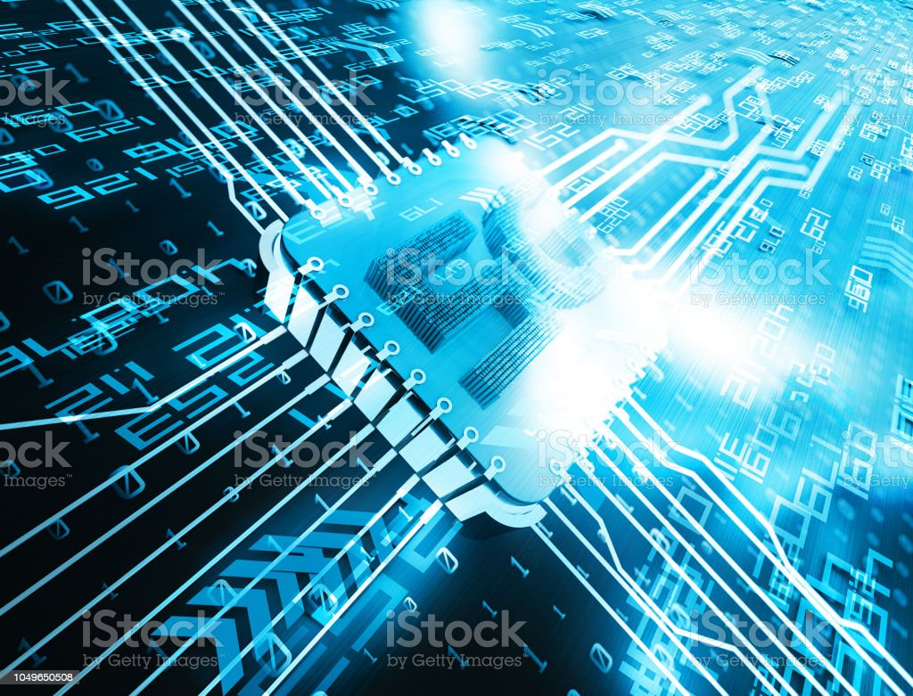 5g network technology, circuit board and network information connection stock photo