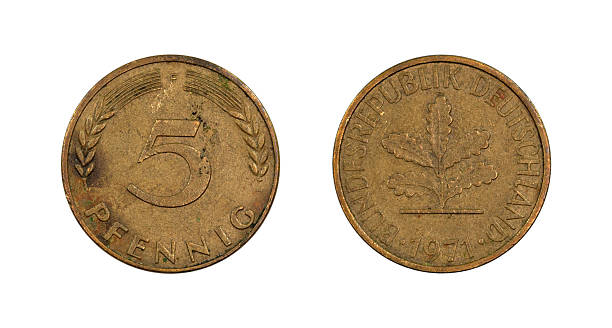5-Pfennig-Coin, Germany, 1971 stock photo