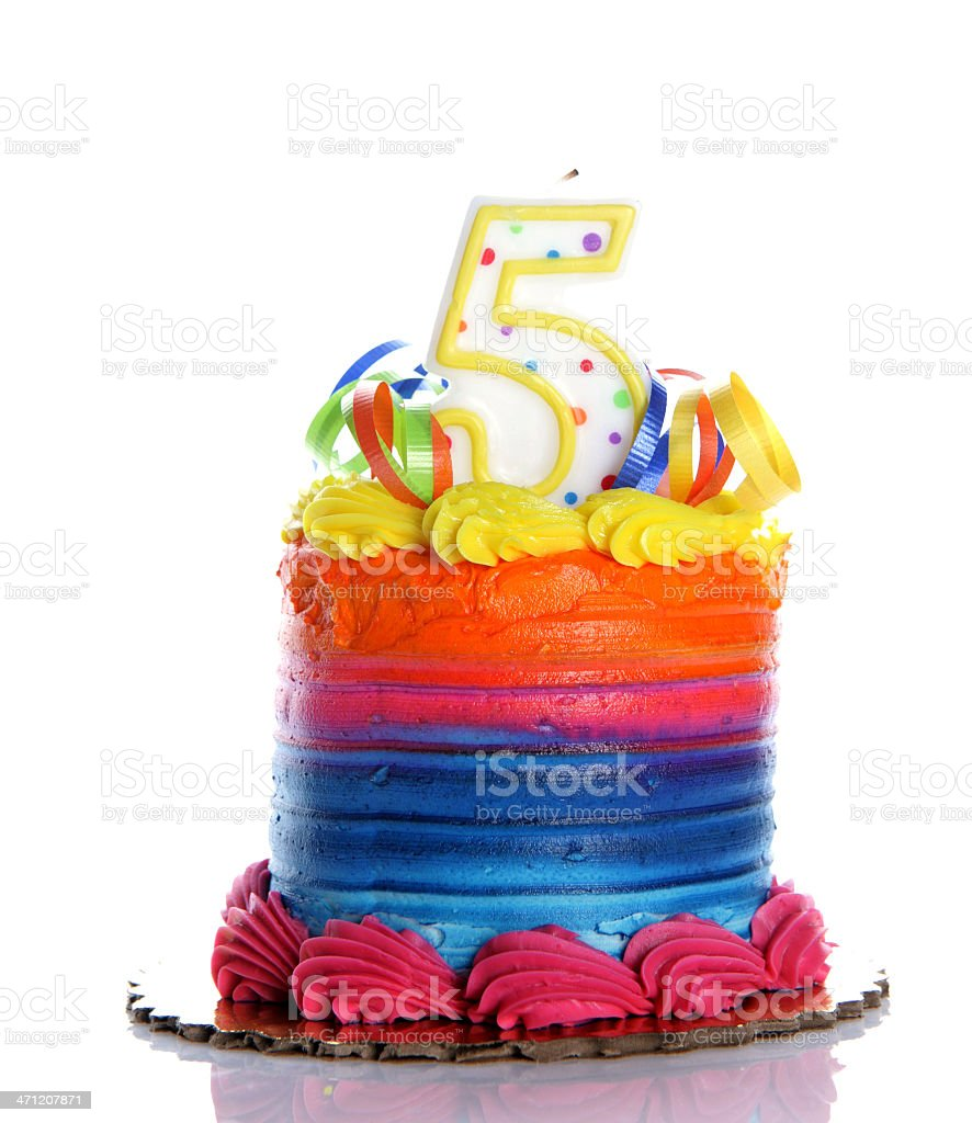 Surprising 5Th Birthday Cake Stock Photo Download Image Now Istock Funny Birthday Cards Online Elaedamsfinfo