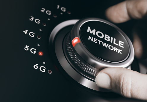 istock 5th Generation Mobile Network, 5G Wireless System 648158076