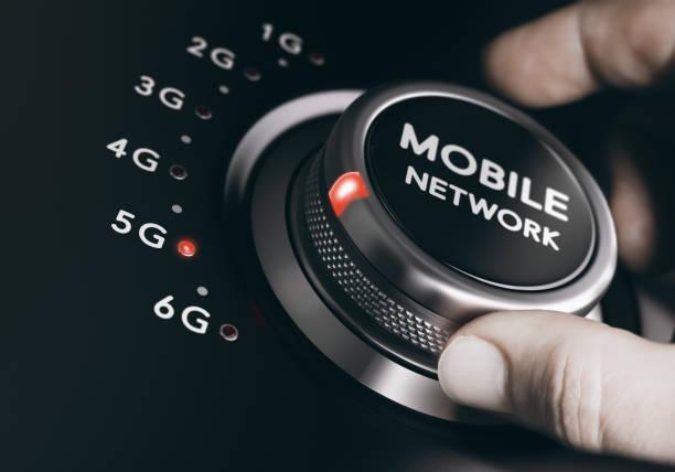 5th generation mobile network, 5g wireless system - 4g foto e immagini stock
