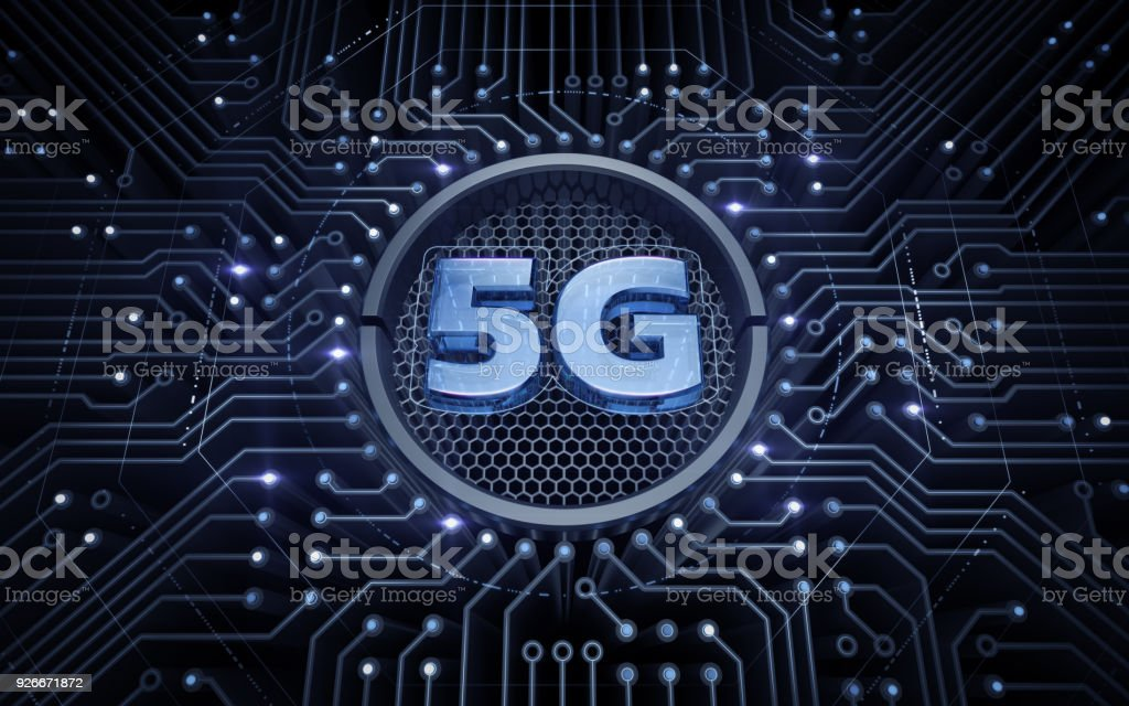 5G - 5th Generation Wireless Systems - Foto stock royalty-free di 5G