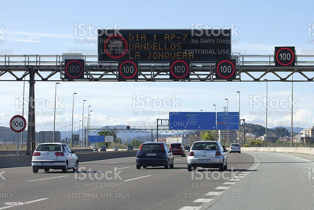 Autopista 5 Vías foto de stock libre de derechos