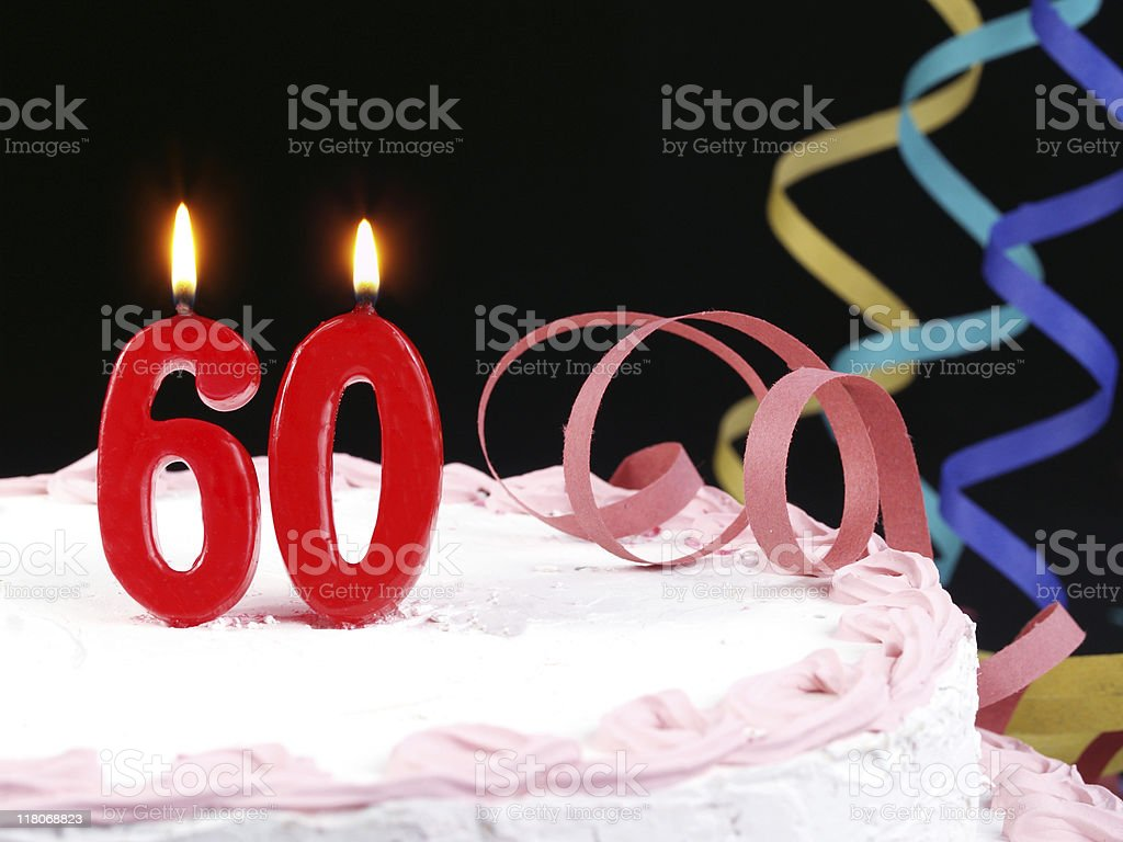60th. Anniversary royalty-free stock photo