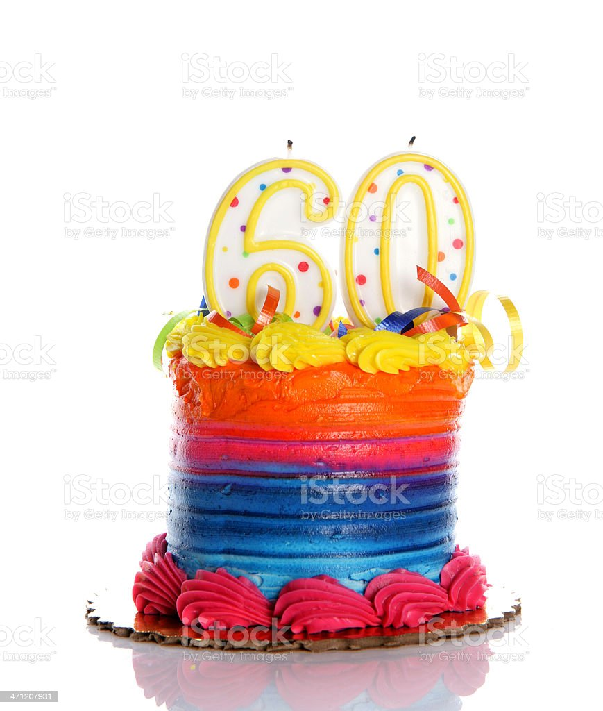 60th Birthday Cake stock photo