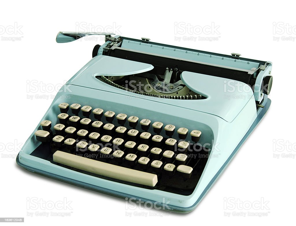 60th Portable Typewriter royalty-free stock photo