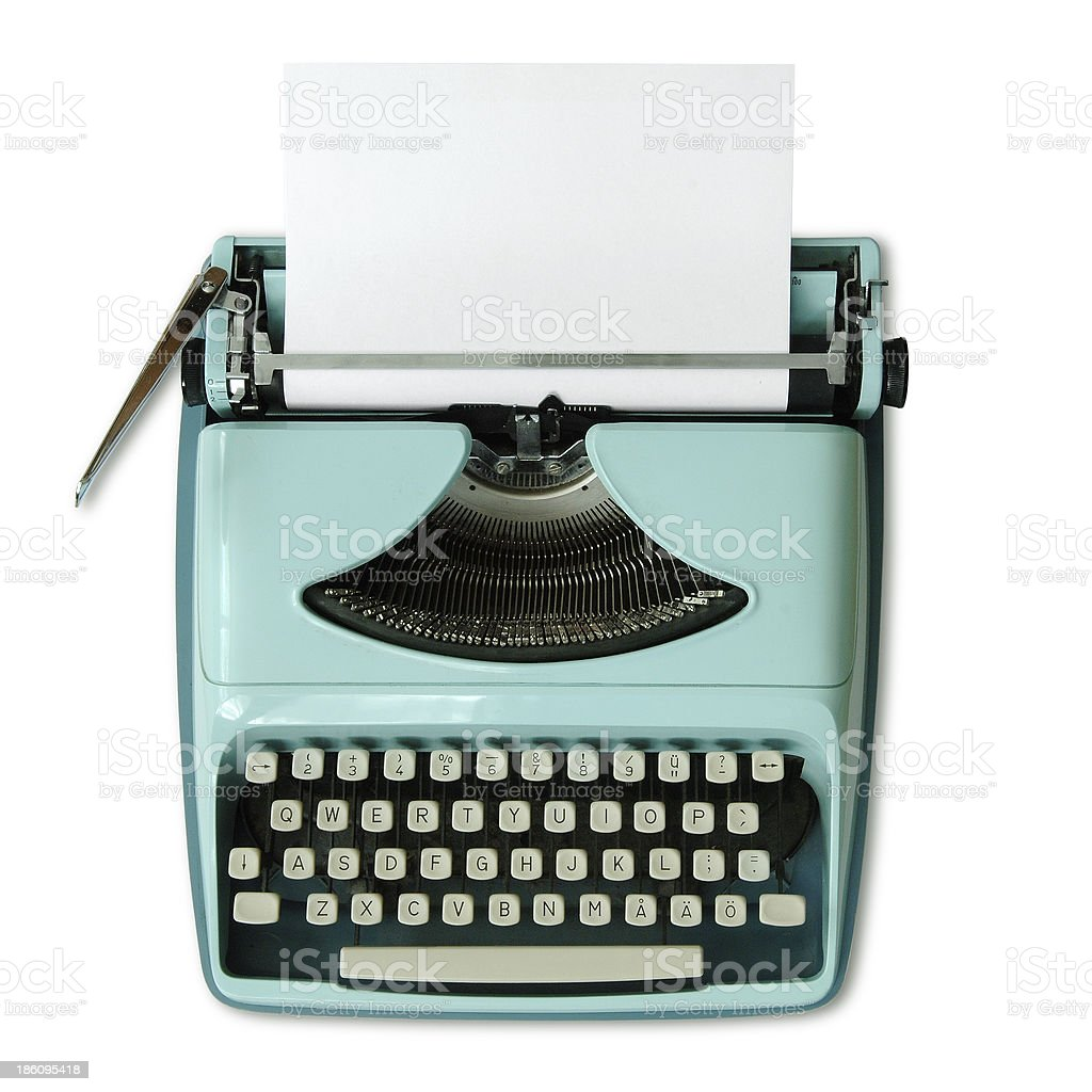 60th Portable Typewriter stock photo