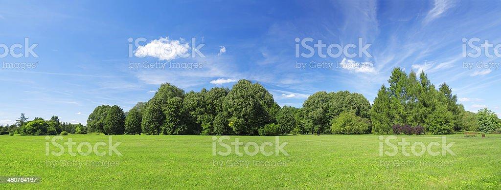 64Mpix Summer Landscape Panoramic stock photo