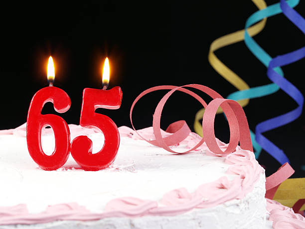65th. Anniversary - Retirement  65 69 years stock pictures, royalty-free photos & images