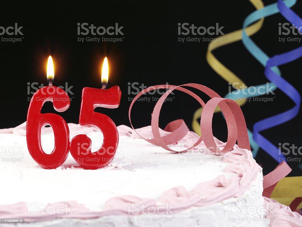 65th. Anniversary - Retirement stock photo