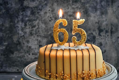 Astounding 65Th Birthday Cake Stock Photo Download Image Now Istock Funny Birthday Cards Online Benoljebrpdamsfinfo