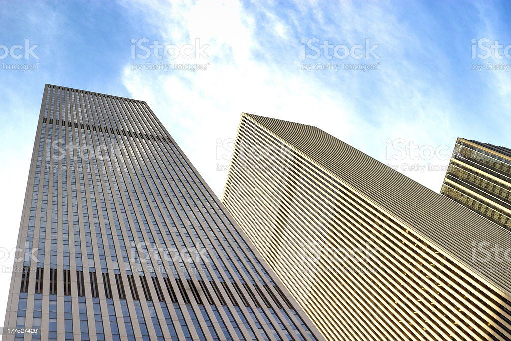 6th Avenue buildings, NYC stock photo