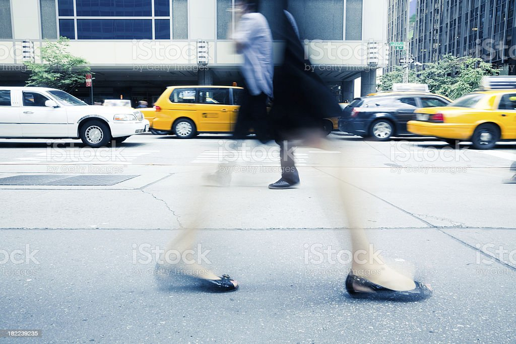 6th Avenue Rush Hour NYC royalty-free stock photo