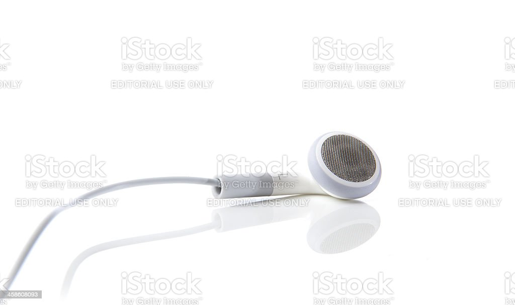 6th Generation Apple iPod Nano Earbuds stock photo