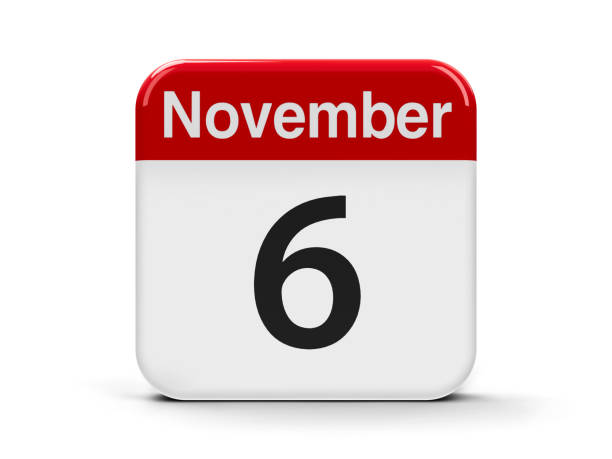 6th november - number 6 stock photos and pictures