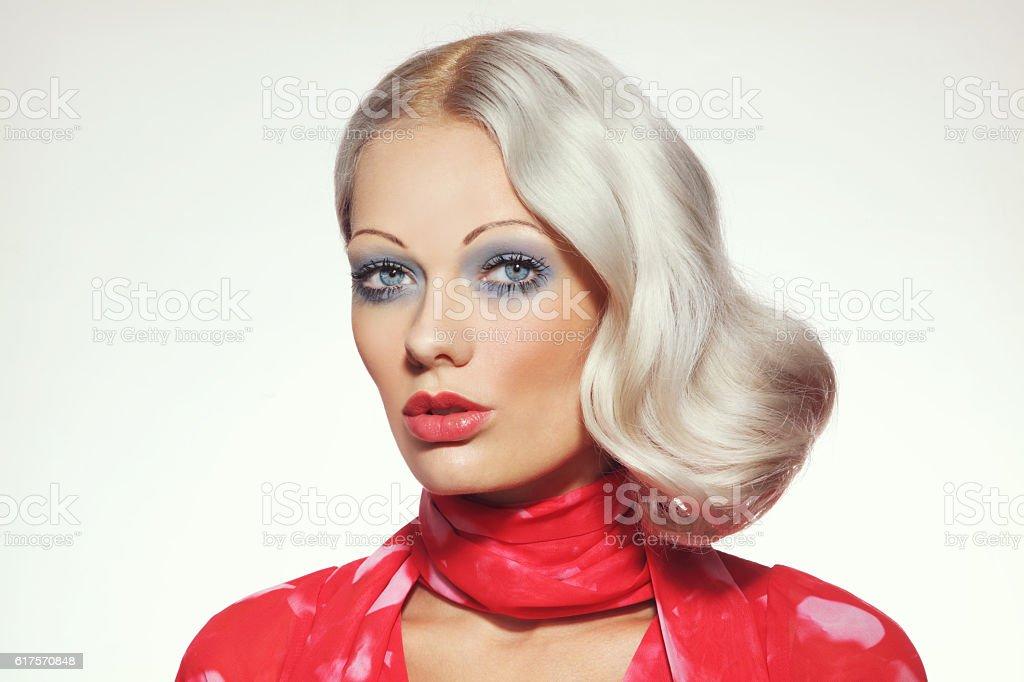 70s beauty stock photo