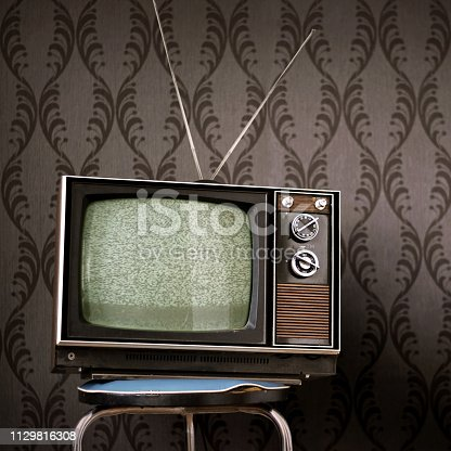 istock 70s Vintage Television 1129816308