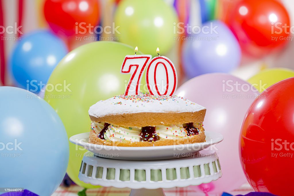 70th Birthday Cake Candles