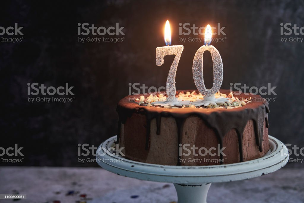 Astounding 70Th Birthday Cake Stock Photo Download Image Now Istock Funny Birthday Cards Online Fluifree Goldxyz