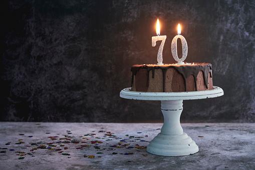 istock 70th Birthday Cake 1199502223