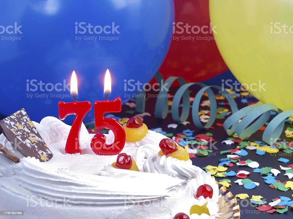 75th. Anniversary stock photo