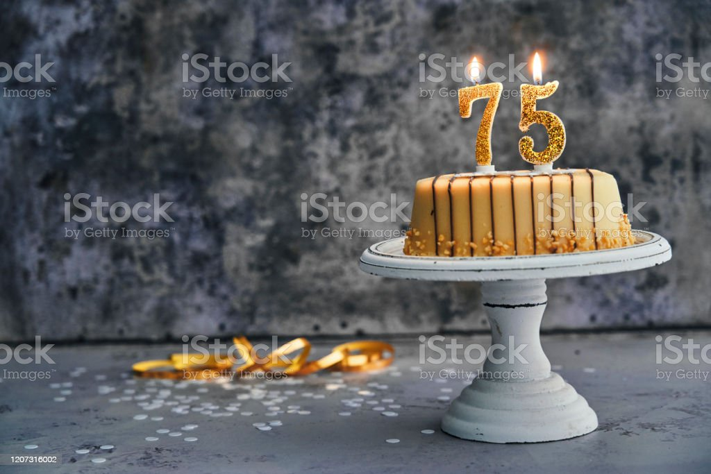 Remarkable 75Th Birthday Cake Stock Photo Download Image Now Istock Funny Birthday Cards Online Bapapcheapnameinfo