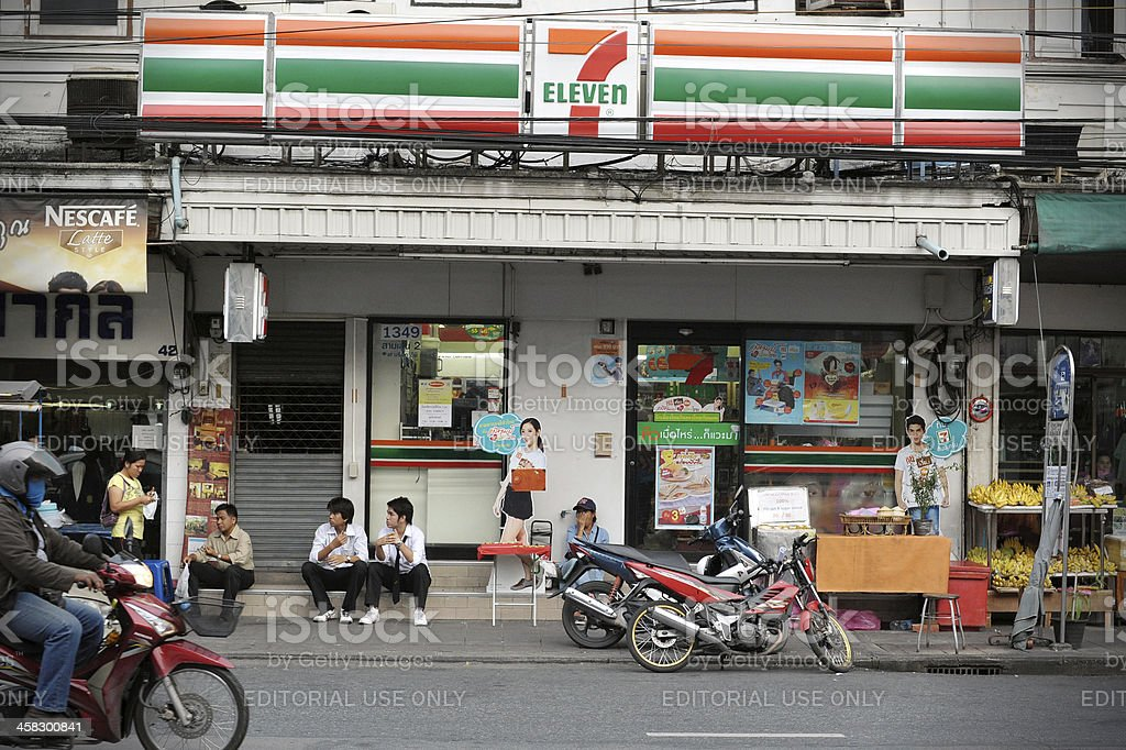 7-Eleven Store in Bangkok stock photo