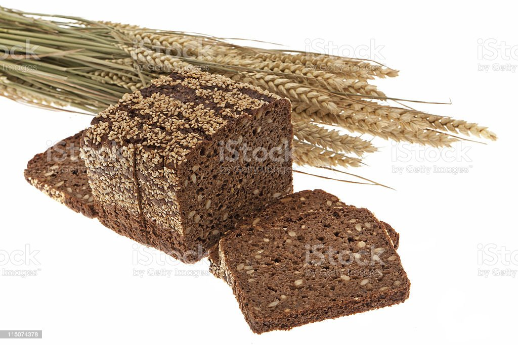 7-Grain bread and cereals royalty-free stock photo