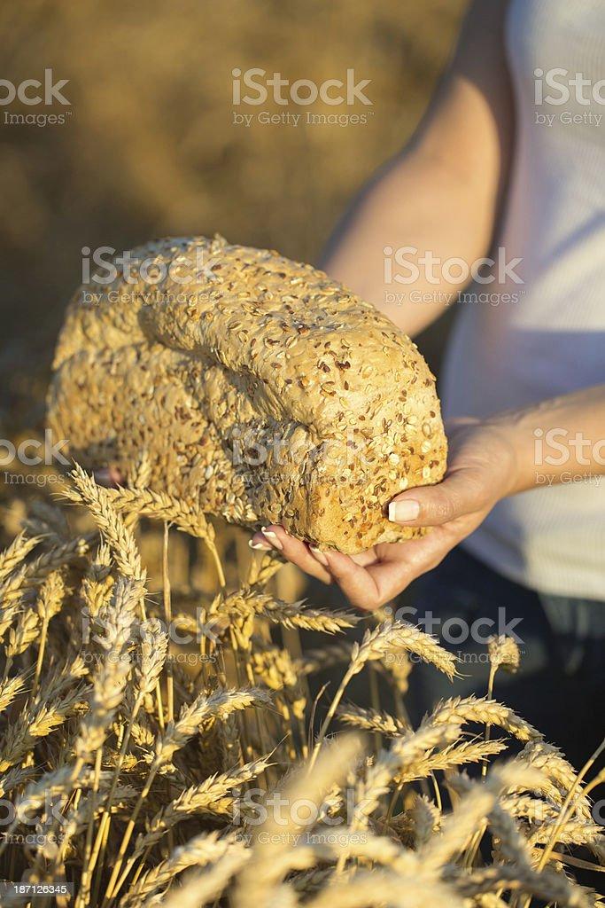 7-Grain Bread royalty-free stock photo
