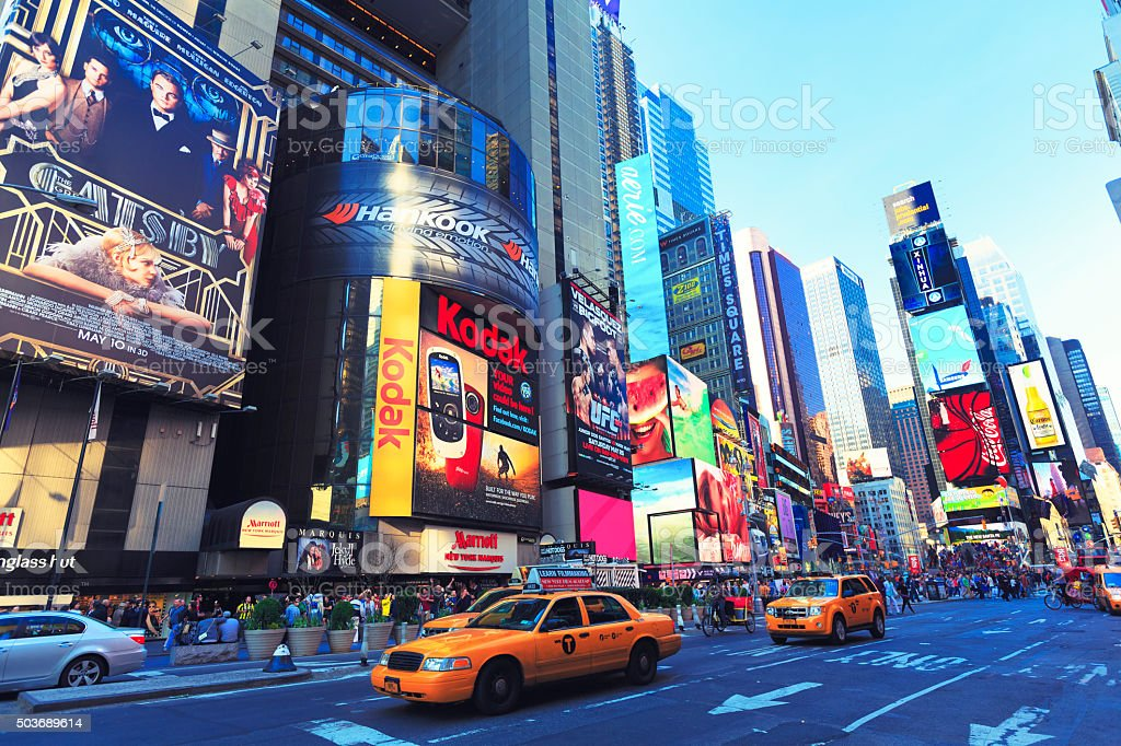 7th Ave at Time Square, New York City stock photo