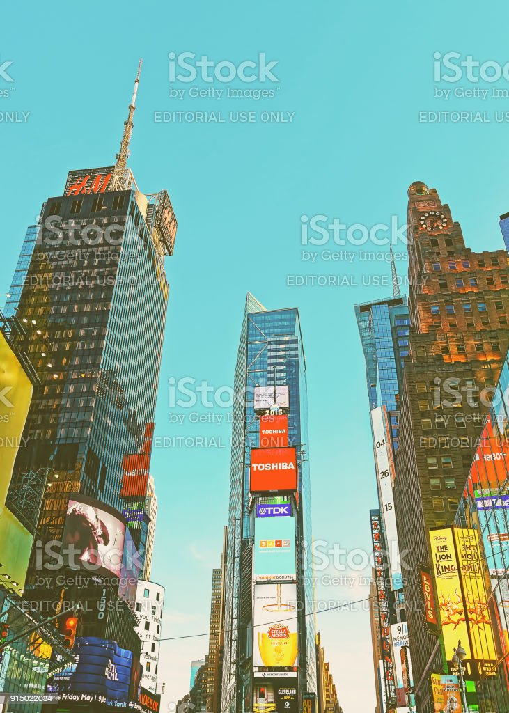 7th Avenue and Broadway in Times Square NY USA stock photo