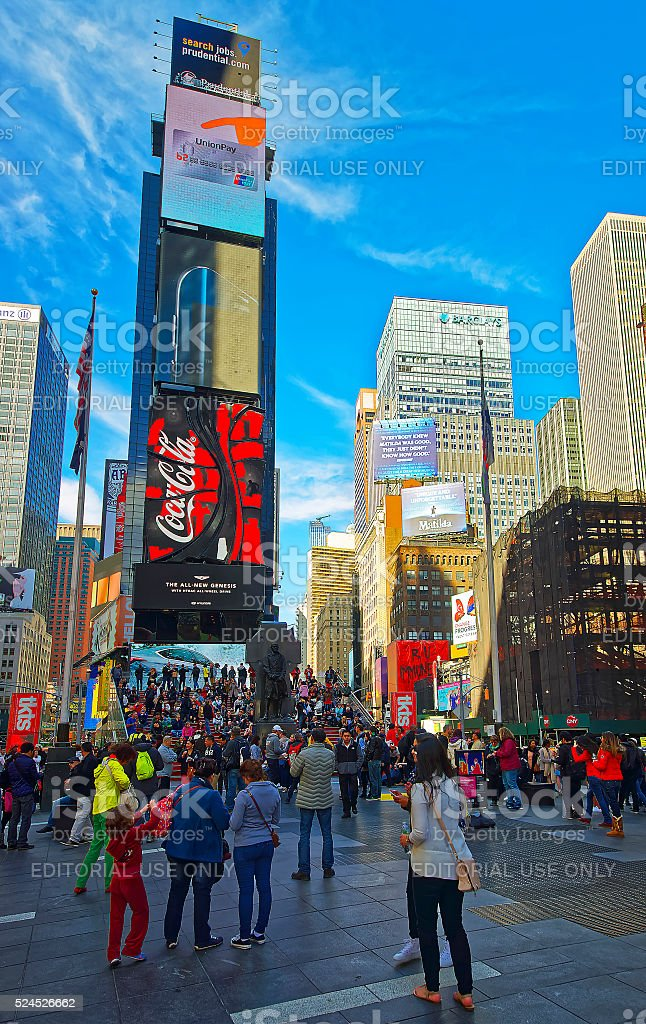 7th Avenue and Broadway stock photo
