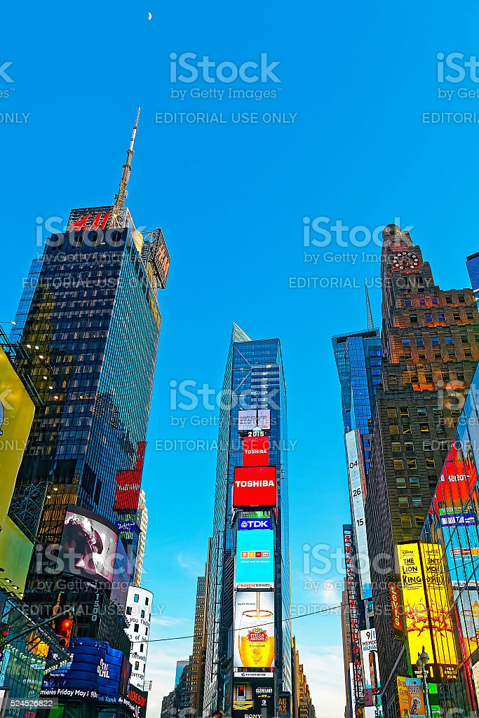 7th Avenue and Broadway skyscrapers stock photo