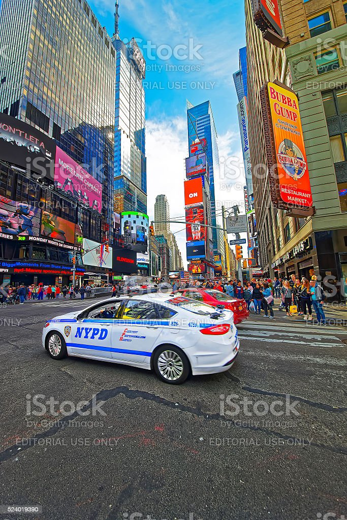7th Avenue and West 44th Street and Broadway stock photo