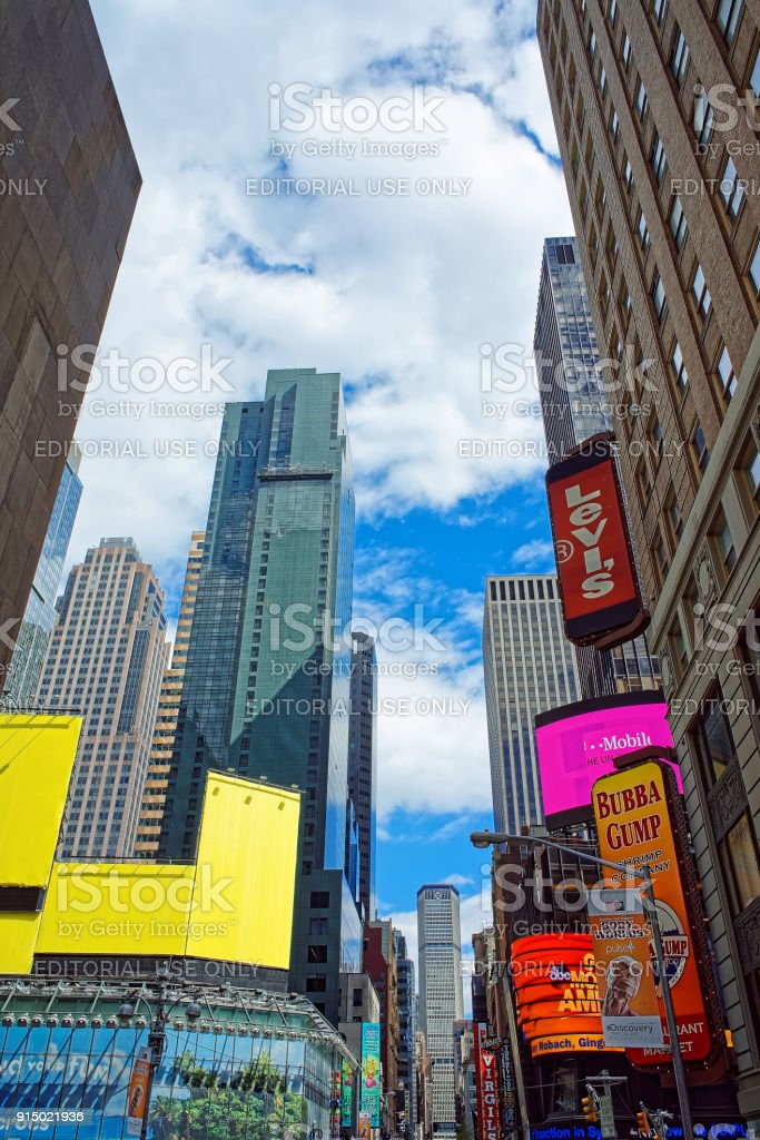 7th Avenue Broadway Times Square NYC USA stock photo
