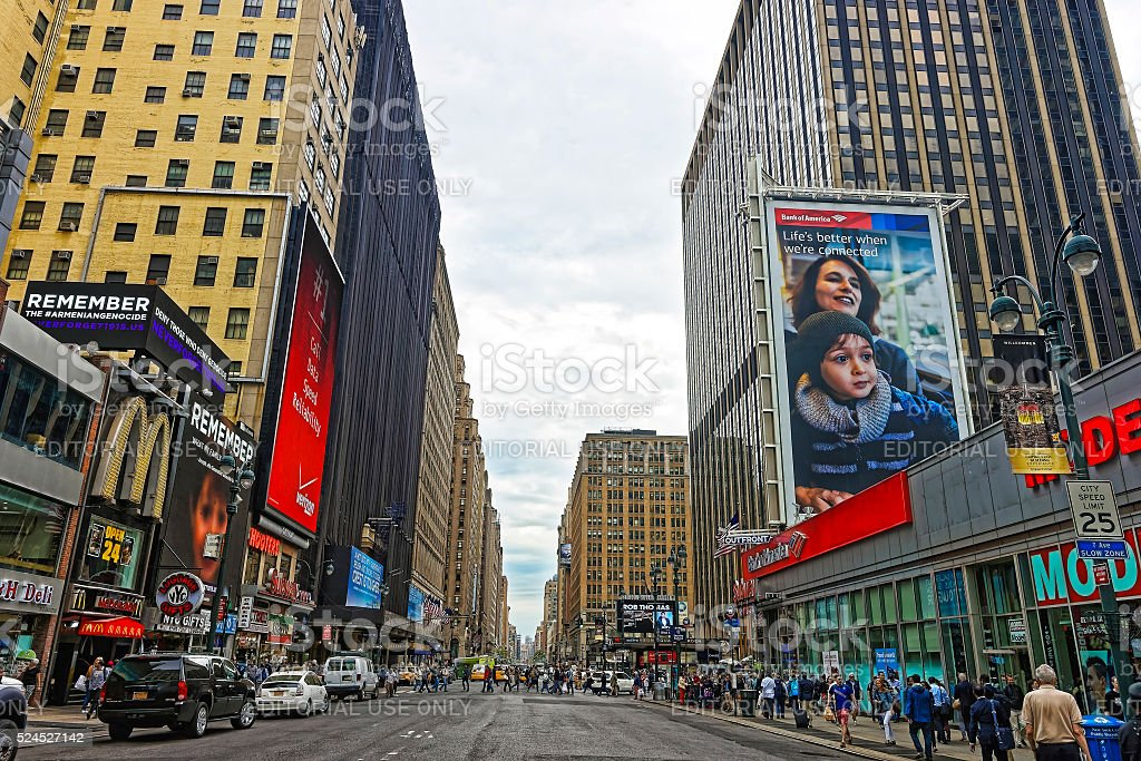 7th Avenue in Midtown Manhattan stock photo