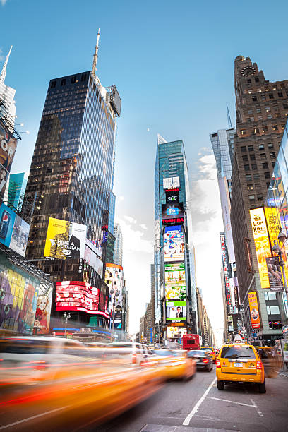 7th avenue nyc - times square stock photos and pictures