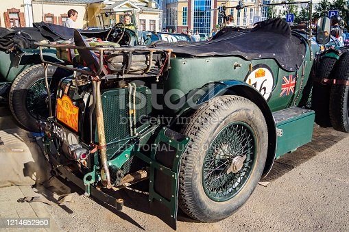 Ufa, Russia, 22 June 2019: The 7th Peking to Paris Motor Challenge. Bentley Speed 6 is british sports car 1934.