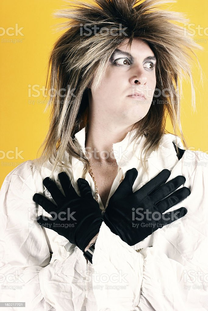 80s Rock Star royalty-free stock photo