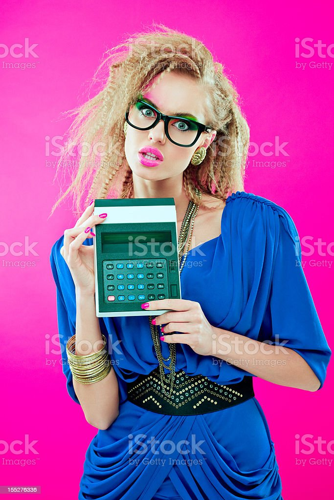 80s style accountant royalty-free stock photo