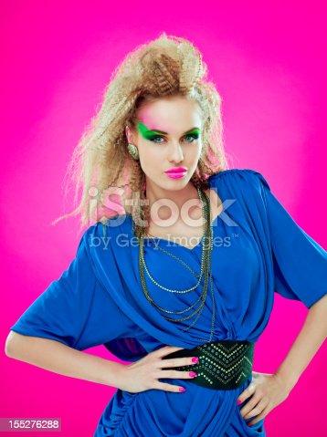 istock 80s style beautiful diva 155276288