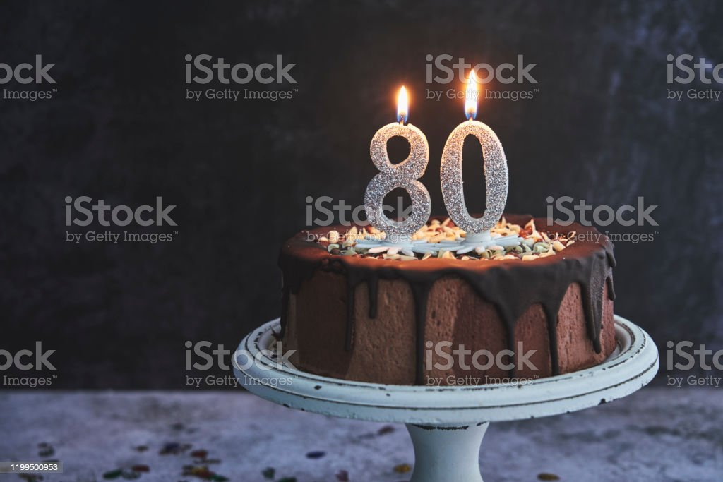 Incredible 80Th Birthday Cake Stock Photo Download Image Now Istock Funny Birthday Cards Online Alyptdamsfinfo