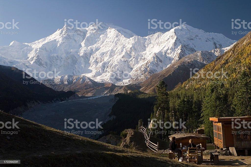 8125m Nanga Parbat Karakoram, Pakistan. stock photo