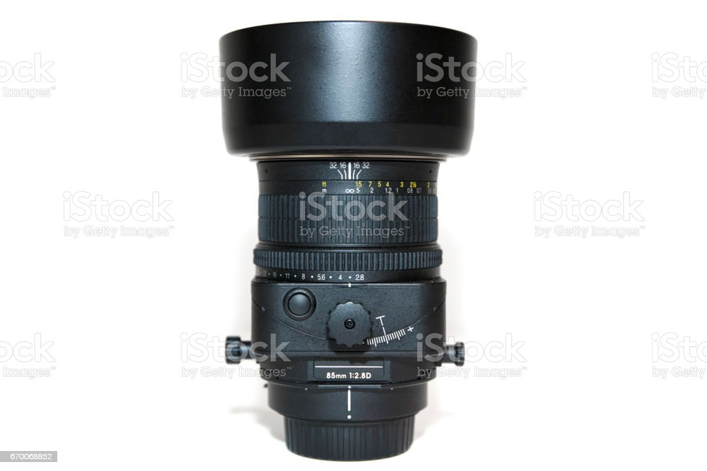 85mm Tilt Shift Lens stock photo