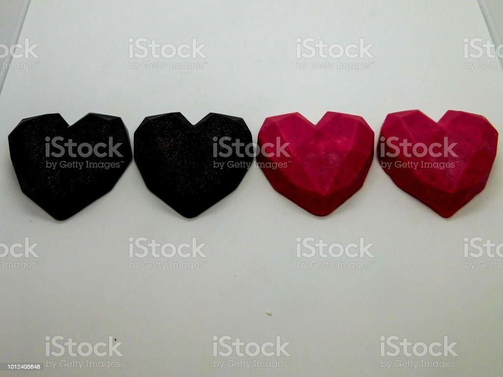 Sabonete coração de 8 bits - foto de acervo