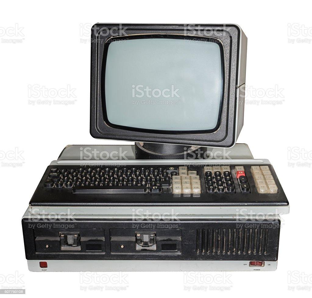 8- bit computador pessoal. Produção anos 1984-1989 - foto de acervo