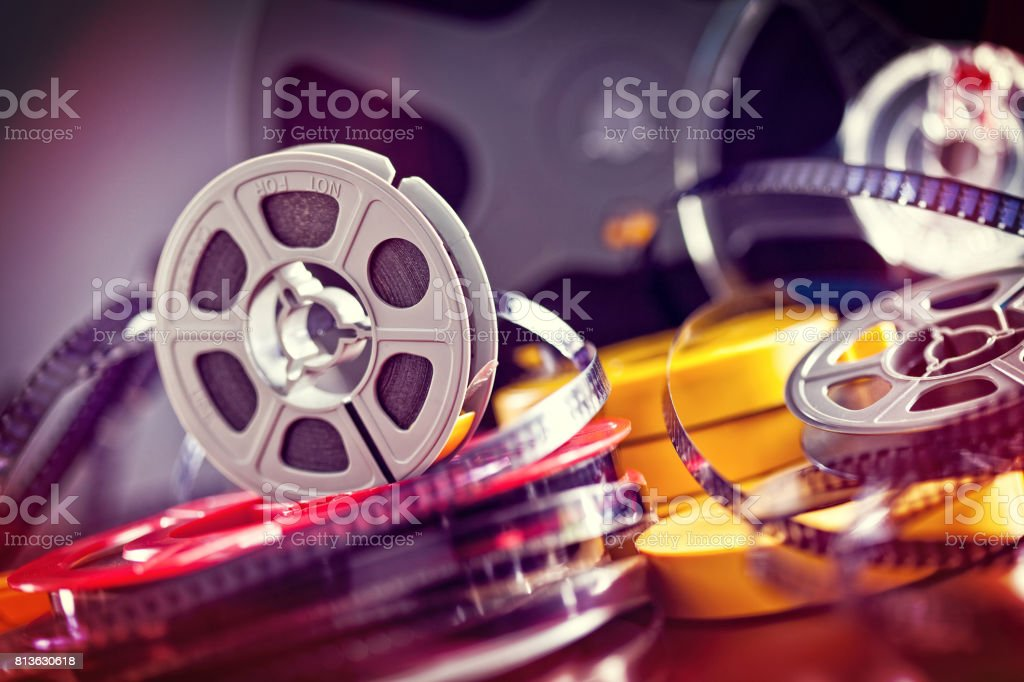 8mm film movie stock photo